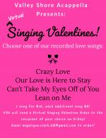 Virtual Singing Valentines 2021 Flyer